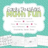 Early Finishers Math Fun