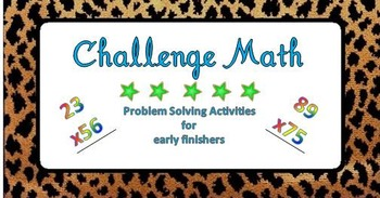Early Finishers Math Problem Solving