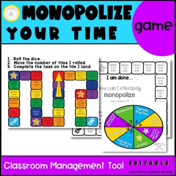 Early Finishers Monopoly Game - Editable!!!