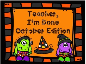 Early Finishers October Edition