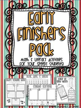 Early Finishers Pack - Math & Literacy Activities For Your Speedy Students