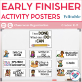 Early Finishers Posters EDITABLE