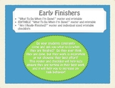 EDITABLE Early Finishers Posters and Checklist