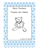 Early Finishers Puzzles and Games Mini Version