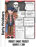Early Finishers Puzzling Pirates Logic and Critical Thinking