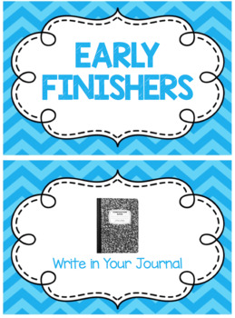 Early Finishers Ribbon Chart (Editable)