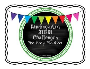 Early Finishers STEM Bucket Activites for Kindergarten