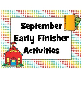 Early Finishers September Pack