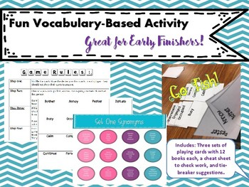 Early Finishers: Synonym Go Fish