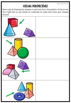 Early Finishers Task 3D Shapes - Viewpoints and Perspectives