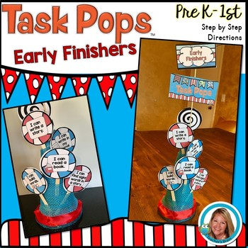 Early Finishers Task Cards Kindergarten and First Grade TASK POPS