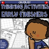 Early Finishers Thinking Puzzles for August
