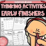 Early Finishers Thinking Puzzles for September