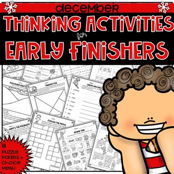 Early Finishers Thinking Puzzles for December