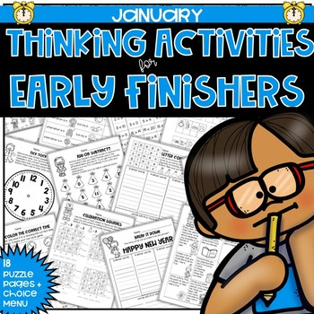 Early Finishers Thinking Puzzles for January