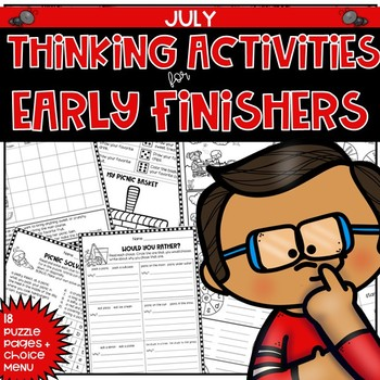 Early Finishers Thinking Puzzles for July