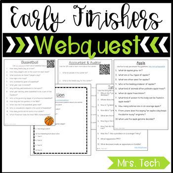 Early Finishers Webquest Bundle
