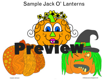 Early Finishers Worksheet - Decorate a Jack O' Lantern