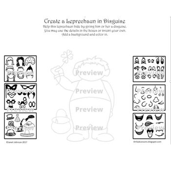 Early Finishers Worksheet - Create a Leprechaun in Disguise