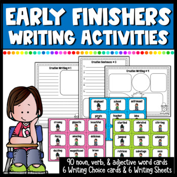 Early Finishers Writing Choice Cards