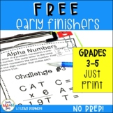 FREE Early Finishers and Gifted Math Challenges || Distance Learning
