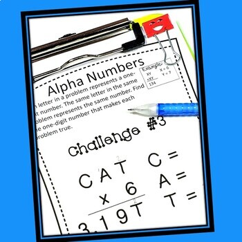 FREE Early Finishers and Gifted Math Challenges    Distance Learning