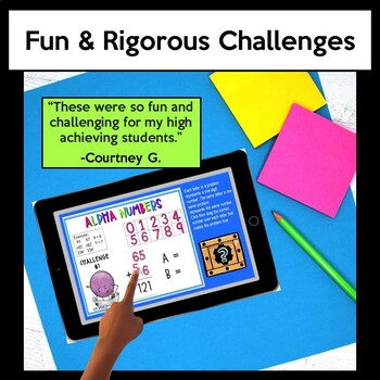 Math Challenges for Early Finishers, Gifted, Homework, & Extensions #2
