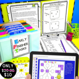 Early Finishers and Gifted Math Challenges Bundled!