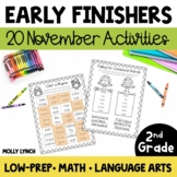Early Finishers for 2nd Grade - November