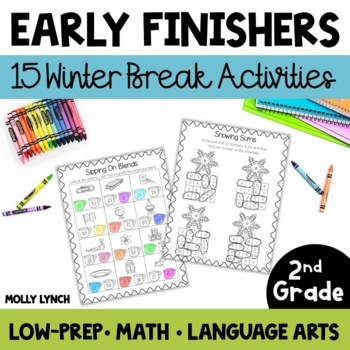 Early Finishers for 2nd Grade - Winter Break!