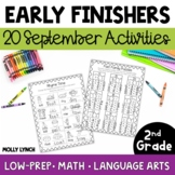 Early Finishers for 2nd Grade - September