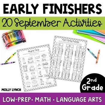 Early Finishers for 2nd Grade - September