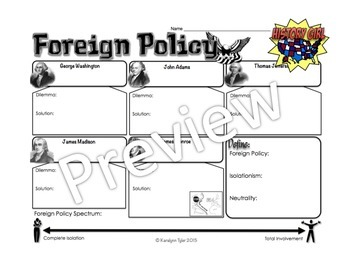 Early Foreign Policy PowerPoint and Infographic