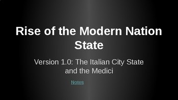 Early Forms of the Nation-State Lecture Slides and Notes