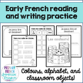 Early French reading and writing practise