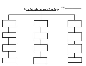 Early Georgia Heroes Tree Map - Cut and Paste Activity