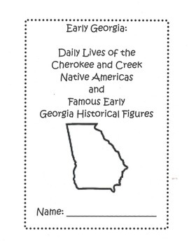 Early Georgia: Native Americans and Historical Figures Research Booklet