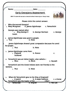 Early Georgians Assessment