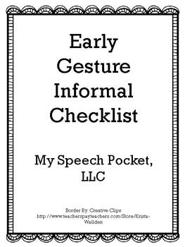 Early Gesture Informal Checklist