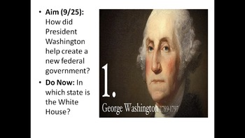 US History Unit 1.2 - Early Government PowerPoints - Washington to Jefferson