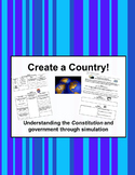 Early Government and Constitution - Create-a-Country Activity