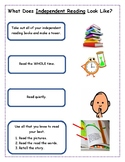 Early Grades Independent Reading Charts