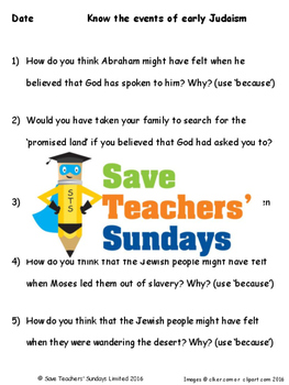 Early History of Judaism Lesson plan, PowerPoint and Worksheets