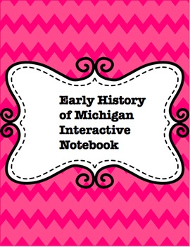 Early History of Michigan Interactive Notebook