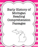 Early History of Michigan Reading Comprehension Passages