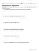 Early Human Ancestors Reading Worksheets and Answer Keys