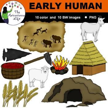 Early Human Clip Art
