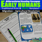 Early Human Differentiated Reading Passages (Print & Digit