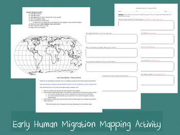 Early Humans Migration Map Worksheets & Teaching Resources | TpT
