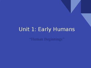 Early Human PowerPoint & Hook Exercise